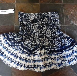 BB Dakota Well traveled printed ruffled skirt